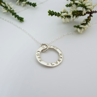 Silver Name Necklace - Handmade and Personalised