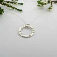 Silver Name Necklace - Personalised and Handmade Sterling Silver