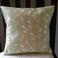 Small 30cm square cushion, green, housewarming, office, leaves, foliage