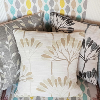 Small green tree-patterned cushion