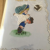 Young Footballer Boys Birthday Card