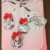 Ribbons and Baubles Christmas Card