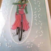 Bicycle ride Birthday Card