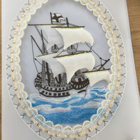 Ship Ahoy, a perfect card for a sea or boat lover