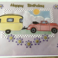 Caravaning Birthday Card