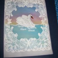 Lacey Swan Anniversary Card