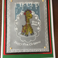 Jolly Giraffe, a perfect Baby's First Christmas Card