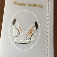 These Shoes Are Made For Walking, a card for the shoe fanatic
