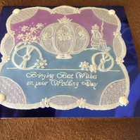 Cinderella a beautiful Wedding Card