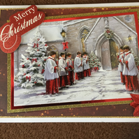 3d Decoupage Christmas Card