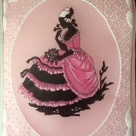 Crinoline lady Card