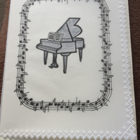 Card for the pianist