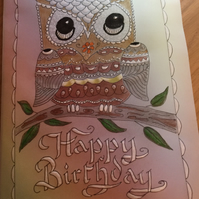 Male Birthday Card for the bird lover