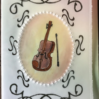 Parchment Card for the Music Lover