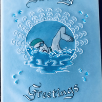 A card for the Swimming Enthusiast