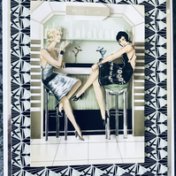 3d Art Deco Decoupage Card