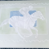 Grand National. A card for the horse racing enthusiast