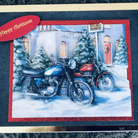 Christmas Card for Motorbike Enthusiasts