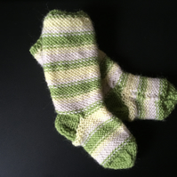 Hand knitted baby socks 100% merino wool