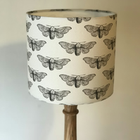 Moths Drum Lampshade 25cm Diameter