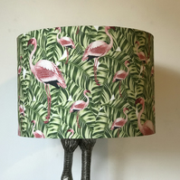 Pink Flamingo Exotic Drum Lampshade 30cm Diameter