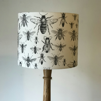 Bee Drum Lampshade 25cm Diameter