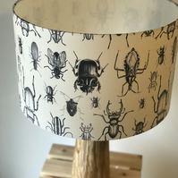 Beetle Drum Lampshade 30cm Diameter