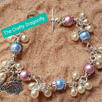 Pearl Bracelet with Turtle Charm