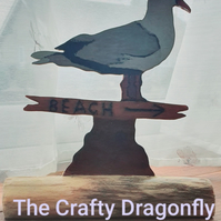 Handmade Wooden Seagull Ornament