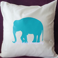 Cotton Cushion with Elephant Design.