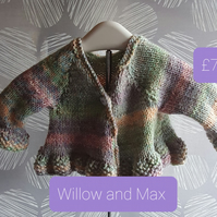 Hand Knitted Baby Cardigan 0 to 6 months