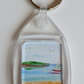 Hand Painted Miniature Watercolour Keyring