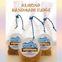 Almond Handmade Fudge, No Additives, No Colourings, Made in Devon.