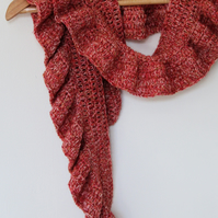 Easy to wear ruffle scarf-boho chic