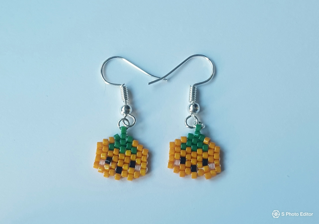 Cute pumpkin earrings