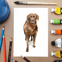 Labrador Dog Art Print -- Watercolor Painting Pet Print