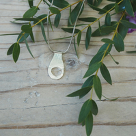 Sterling Silver One off Textured Pendant Curious Avocado