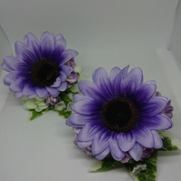 Lilac,Purple Gerbera Ladies Wrist,Lapel,Handbag Corsage