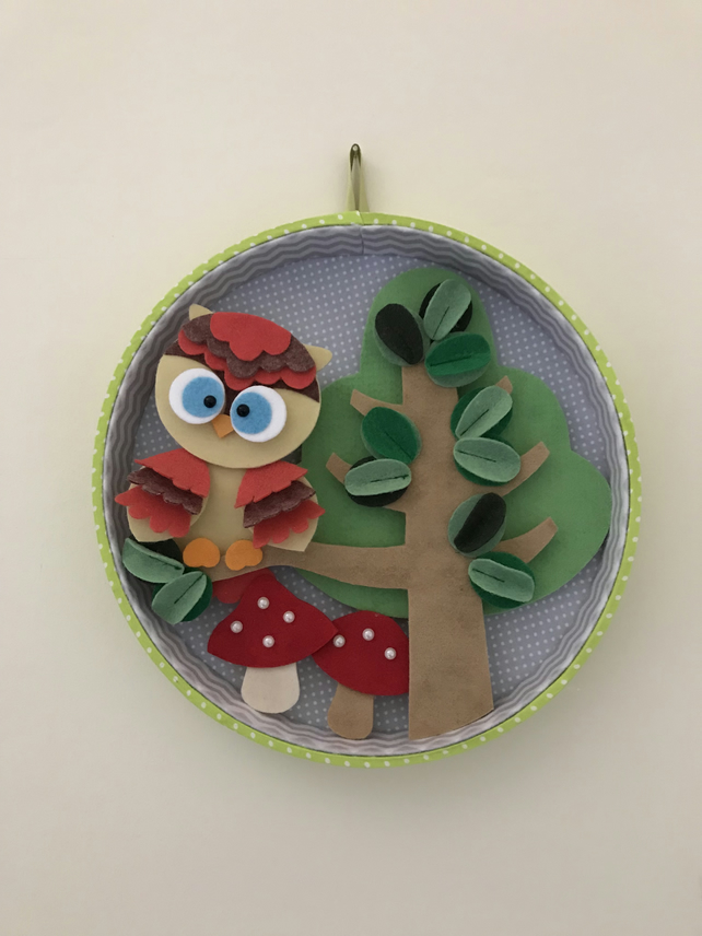 Woodland Owl wall decoration