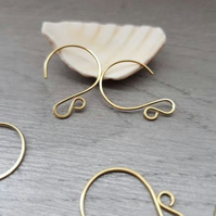 5 Pairs of Handmade Curvy Circle Ear Wires