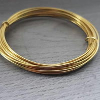 16 Gauge (1.25mm) Bare Brass Wire - 3 Metres
