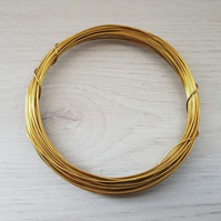 20 Gauge (0.8 mm) Bare Brass Wire - 6 Metres