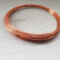 27 Gauge (0.375 mm) Bare Dead Soft Copper Wire - 15 Meters