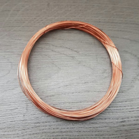 25 Gauge (0.45 mm) Bare Dead Soft Copper Wire - 15 Meters
