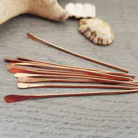 18g (1.0mm) Copper Paddle Pins - 10 PCs - 3""