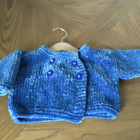 Hand knitted chenille jacket