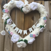 Knitted wedding wreath