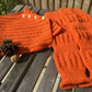 Vintage style hand knitted cowl and arm warmers