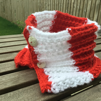 Handknitted 'Match Day' Cowl