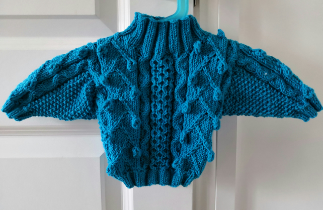 8232efd9f Hand knitted baby jumper - Folksy